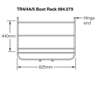 Triumph TR4/4A/5 Stainless