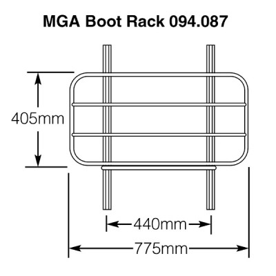 MGA Stainless Steel Boot Rack