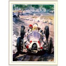 Gotschke 1938 Italian GP Signed Print