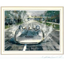 Gotschke 1937 Rossmeyer Autobahn 406kph Signed print