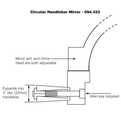 Handlebar End Mirror - Circular