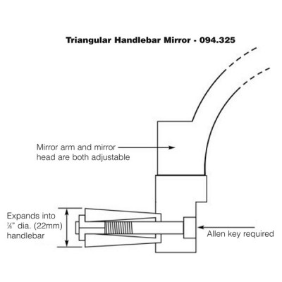Handlebar End Mirror - Triangular