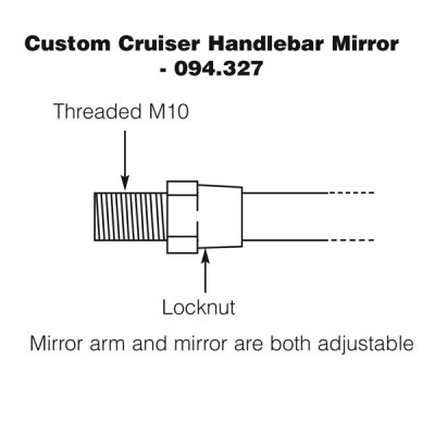 Handlebar Mirror - Custom Cruiser