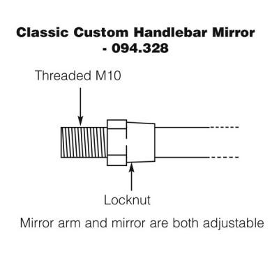 Handlebar Mirror - Classic Custom