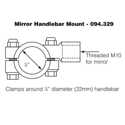 Mirror Mount for Handlebar Mirrors