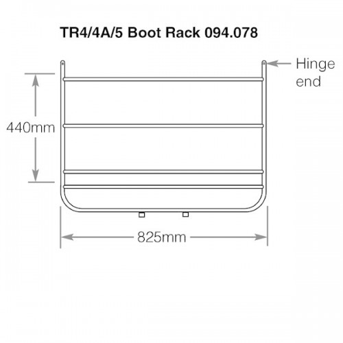 Boot Rack Triumph TR4-5  Chrome Plated image #1