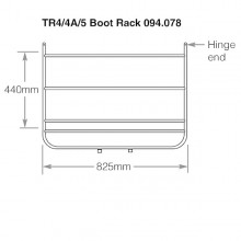 Boot Rack Triumph TR4-5  Chrome Plated