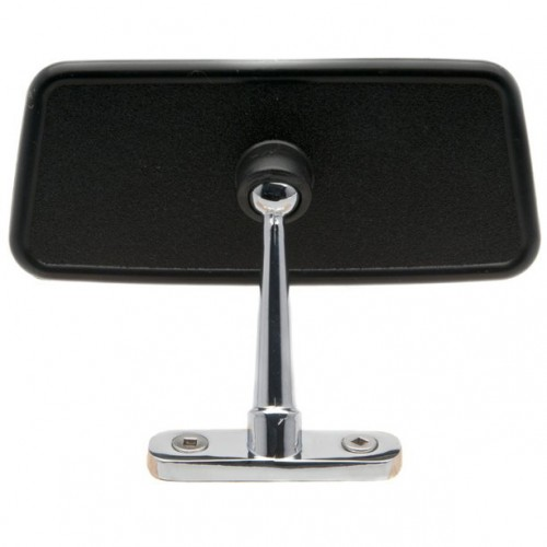 Dash Mounted Interior Mirror - Black & Chrome image #1