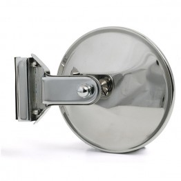 Overtaker Mirror - Glass Channel Mounted - Round - Flat