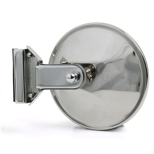 Overtaker Mirror - Glass Channel Mounted - Round - Flat image #1