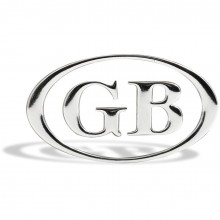 GB Letters in Oval Frame