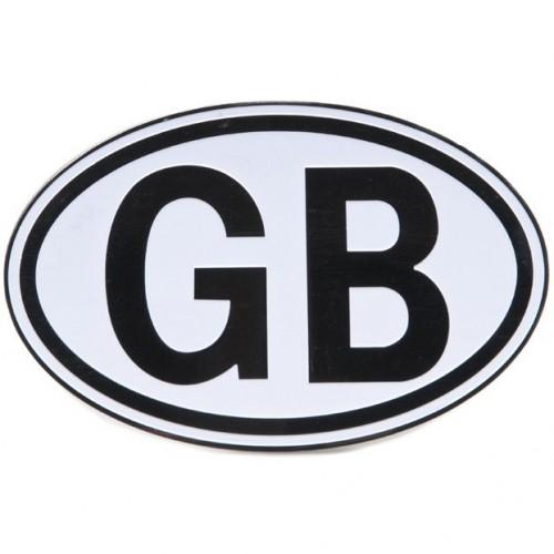 GB Plate Black On White image #1