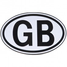 GB Plate Black On White