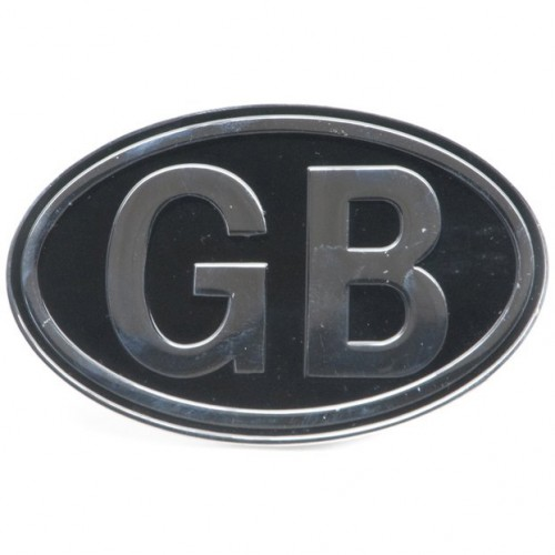 GB Plate Silver On Black image #1