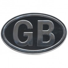 GB Plate Silver On Black