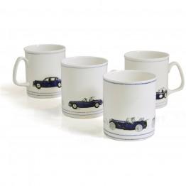 Set of 4 Classic Car Mugs