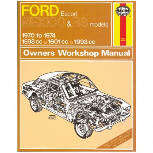 Ford Escort Mk I Mexico/RS Haynes Manual image #1
