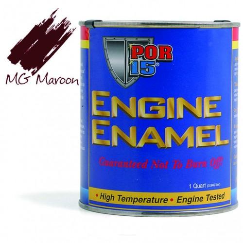 POR-15 Engine Enamel (MG Maroon) 0.473 litre image #1