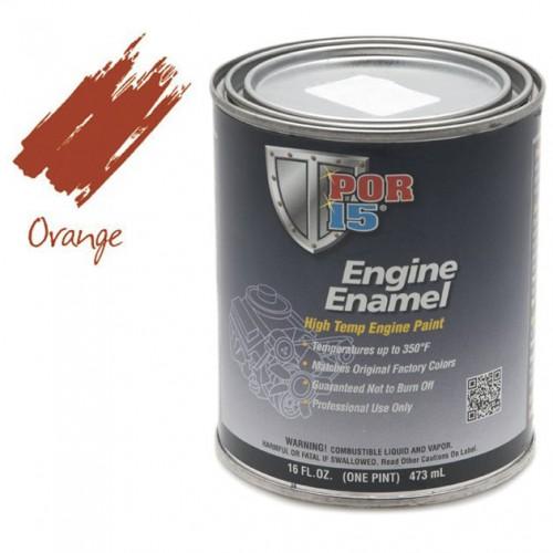 POR-15 Engine Enamel (Chevrolet Orange) 0.473 litre image #1