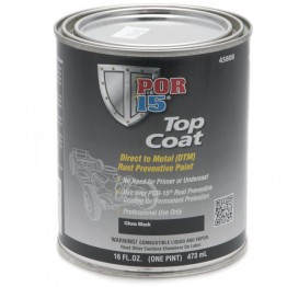 POR-15 Top Coat - Gloss Black - 0.473 litre