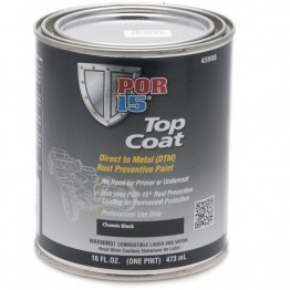 POR-15 Top Coat - Chassis Black - 0.473 litre