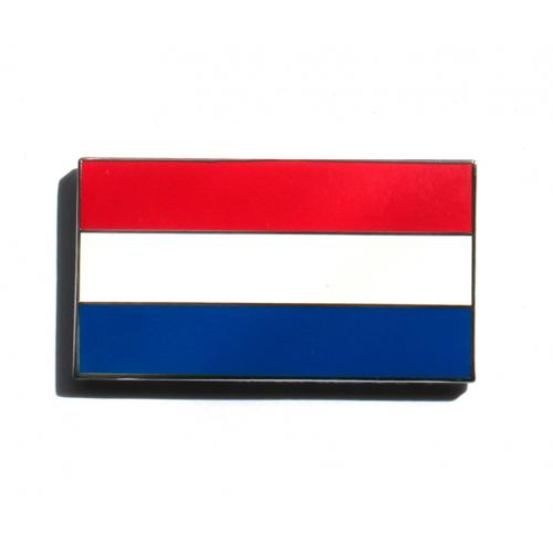 Enamel Netherlands Flag Stick On Badge