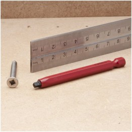 Robertson Driver Bit for No 4/5 Screws - 75mm long - Red