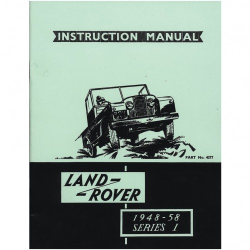 Land Rover Series I 1948-58 Instruction Manual image #1