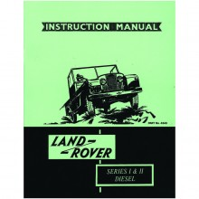 Land Rover Series I/II Diesel Instruction Manual