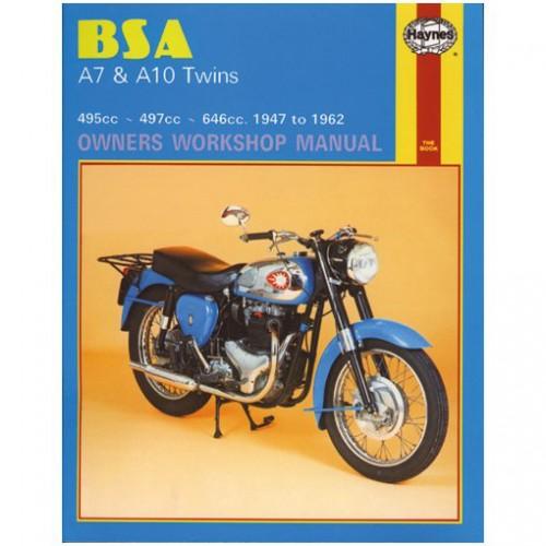 BSA A7 & A10 Twins Haynes Manual image #1