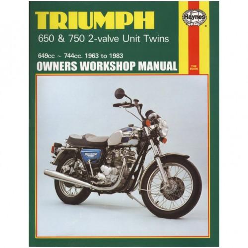 Triumph 650/750 2V Unit Twins Haynes Manual image #1