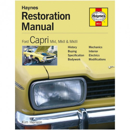 Ford Capri Restoration Manual image #1
