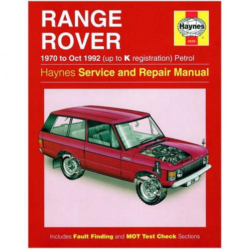 Range Rover V8 Petrol (1970-Oct 1992) up to K Haynes Manual image #1