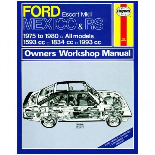 Ford Escort Mk II Mexico & RS Haynes Manual image #1
