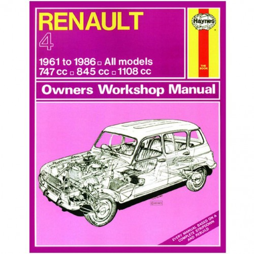 Renault 4 (1961-1986) up to D Haynes Manual image #1