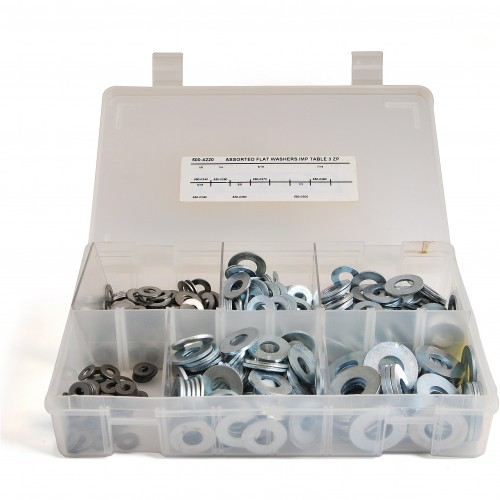 Box of Assorted Flat Steel Washers image #1