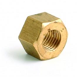 5/16 UNF Brass Nut - Packet of 10