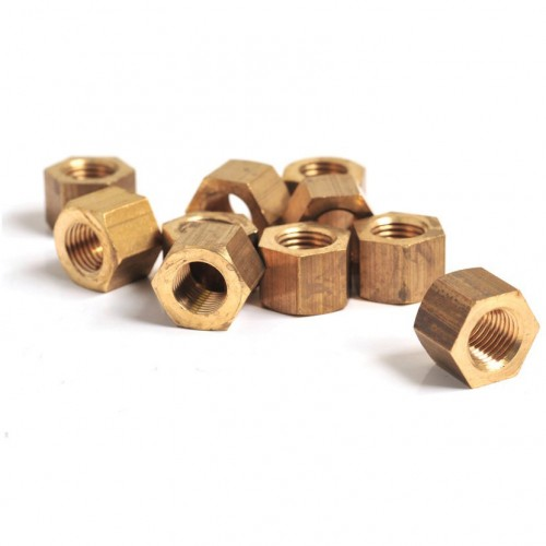 3/8 UNF Brass Nut - Packet of 10 image #1