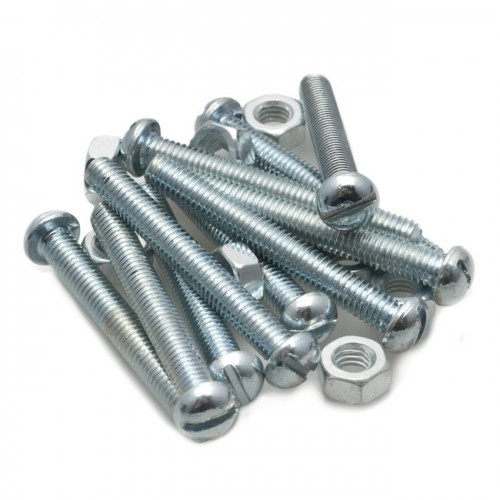 2BA Round Head Slotted Screw Steel - 1 1/2 in image #1