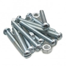 2BA Round Head Slotted Screw Steel - 1 1/2 in