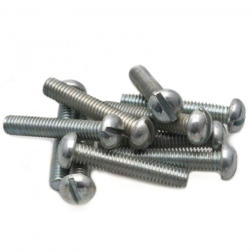 2BA Round Head Slotted Screw - Steel - 1 in image #1
