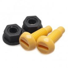Numberplate Screws and Nuts - Yellow