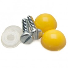 Numberplate Screws and Caps - Yellow