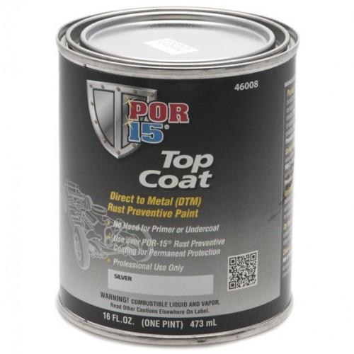POR-15 Top Coat - Silver - 0.473 litre image #1