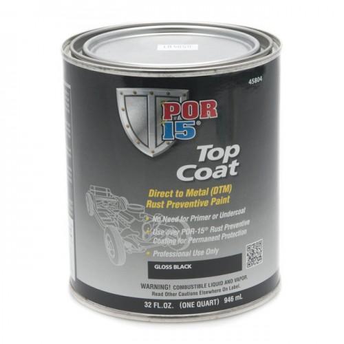 POR-15 Top Coat - Gloss Black - 0.946 litre image #1