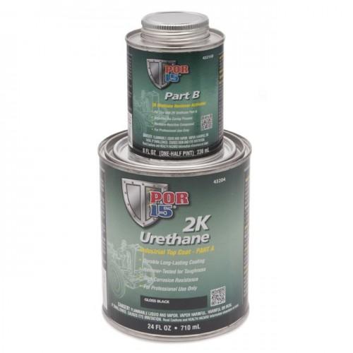 POR-15 2K Urethane Paint - Black - 0.946 litre (US Quart) image #1
