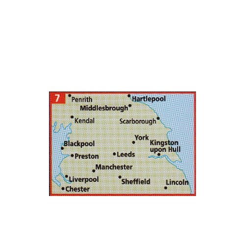 Map Of Northern England.Aa Map Of Northern England