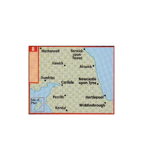 AA Map of North of England & Scottish Borders image #1