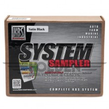 KBS System Sampler Satin Black Finish