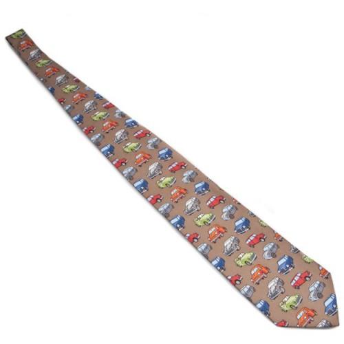 Silk Tie - Morris and Minis on Beige image #1
